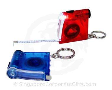 Keychain With Measuring Tape & LED Light
