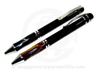 Metal Ballpen With Marbel Grip