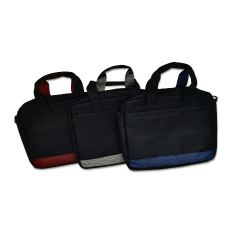 Document Bag with two Zip Compartments