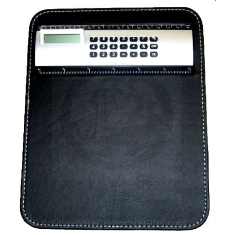 Leather Mouse Pad with Calculator