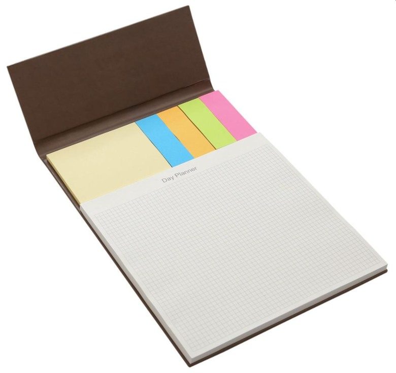 Exclusive Leather Cover Sticky Memo with Notepad