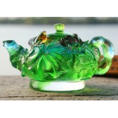 Liuli Teapot - Frog and Lily Pad