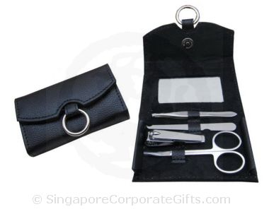 PU manicure set with with mirror