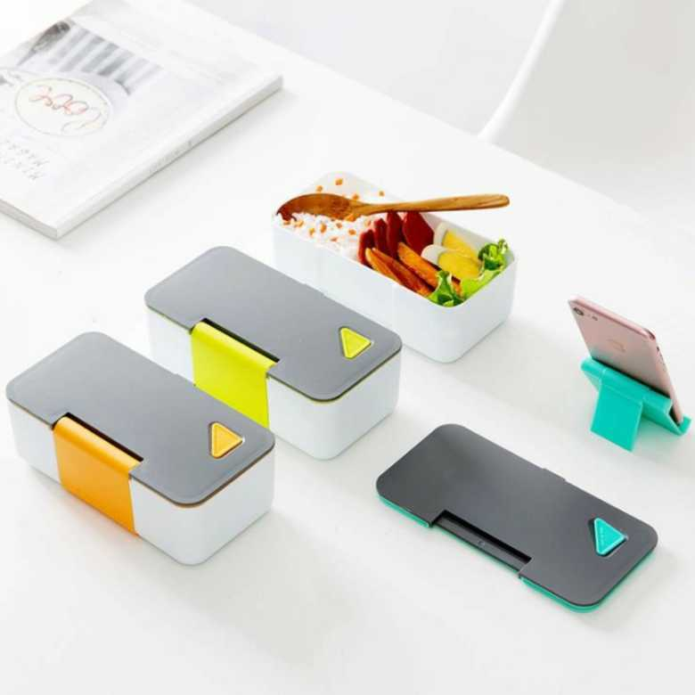 Microwave Safe Bento Box with Phone Stand