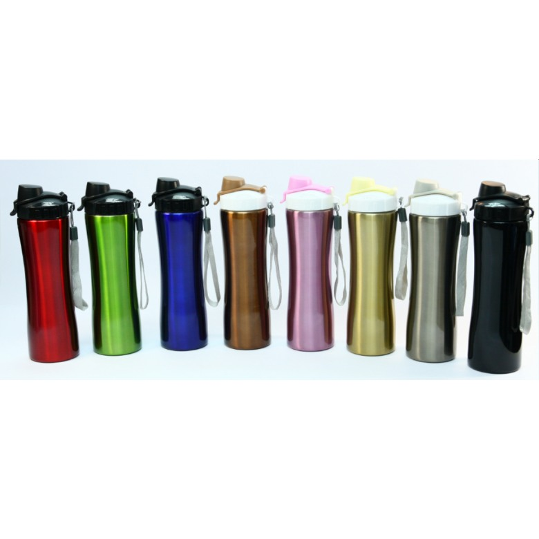 Single wall stainless steel water bottle with PP lid