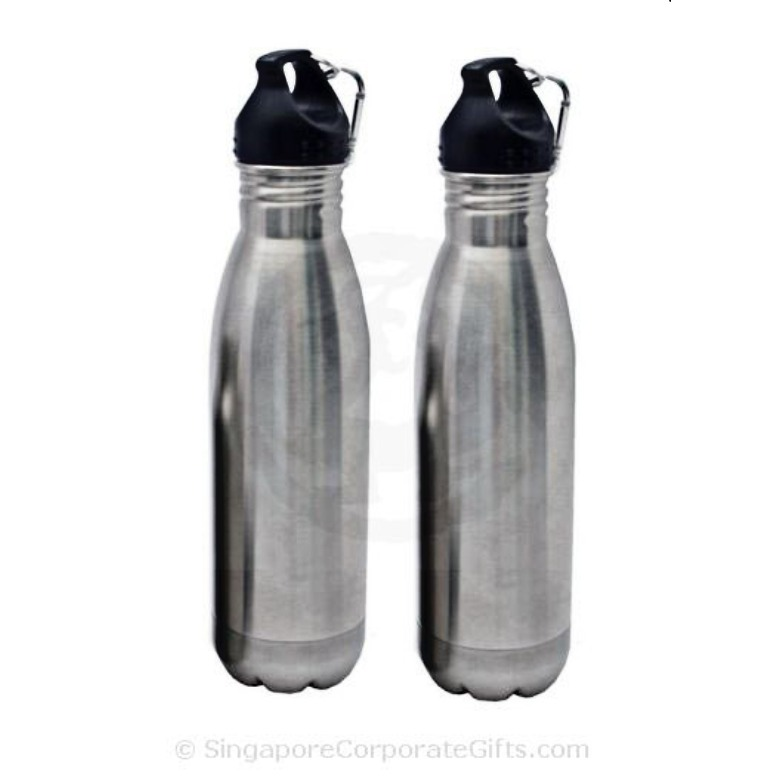 Stainless Steel Bottle With Carabiner -750ml