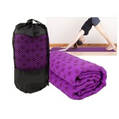 Yoga mat with anti-slip dots