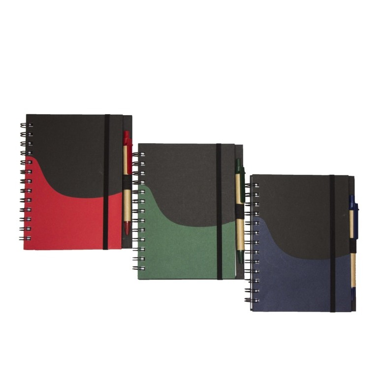 Notebook with eco-friendly pen