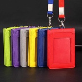 PU Leather Multi-Pass Holder with button