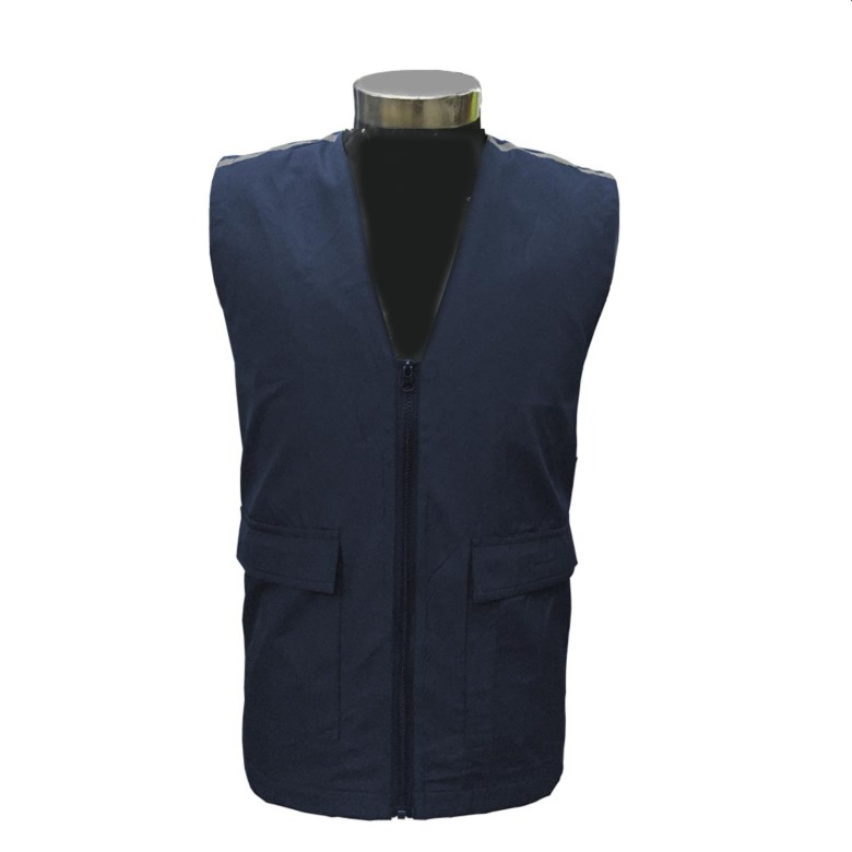 Ployester Vest with Reflective Stripes SJ170
