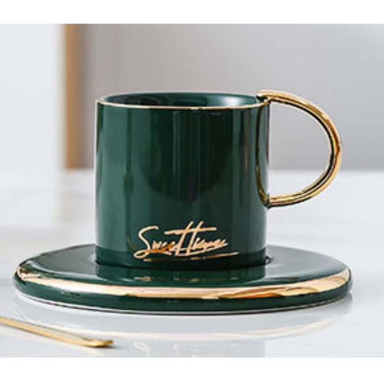 Exclusive Ceramic Coffee Cup with Saucer