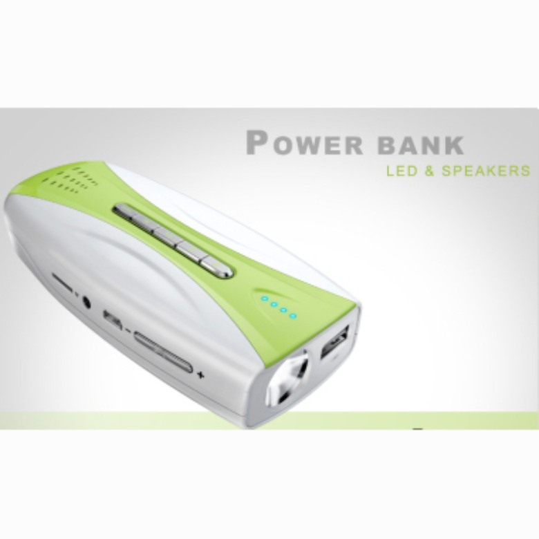Power Bank with LED and MP3 (5600mAh)