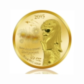 SG50 Singapore Merlion 999.9 Gold Coin (1/2 Oz)