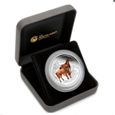 2014 Australia Lunar Coloured Horse 2oz Silver Proof Coin