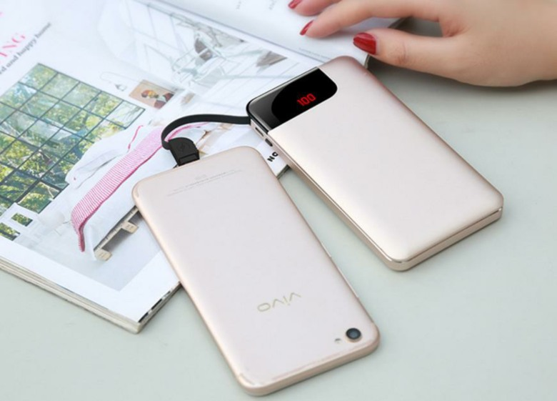 Slim Metal Powerbank with Cable [6000mAh]