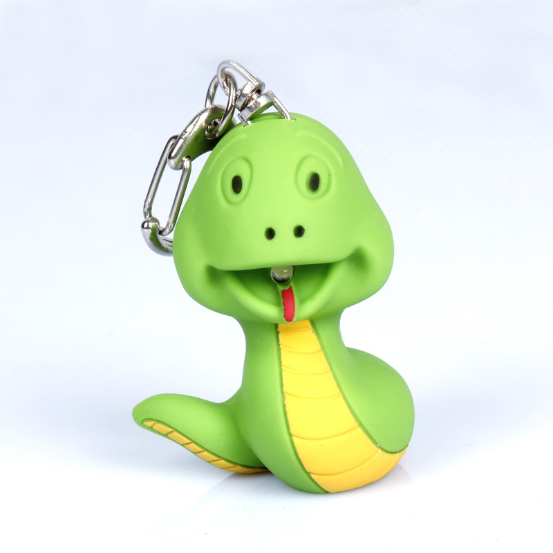 Snake LED keychain with voice