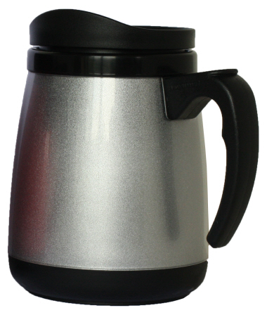 Double wall plastic Silver Colour Mug (18 oz)