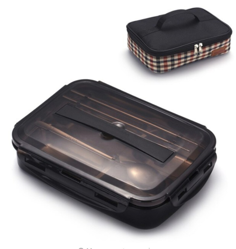 Leak Proof 304 Stainless Steel Tray Lunch Box with Heating