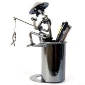 Steel Art Pen Holder (Fisherman)
