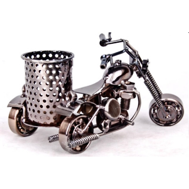 Steel Art Pen Holder (Motorcycle)