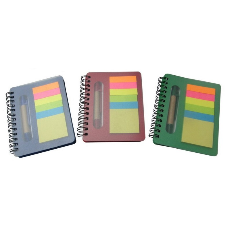 Sticky Memo Pad and Note Book with Pen
