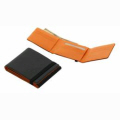 Black/Orange PU Multi-Card Organizer  2