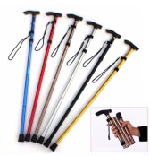Foldable Aluminum Walking Stick With Adjustable Height and Non-s