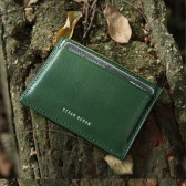 RFID Blocking Top Grain Leather Card Holder - Green