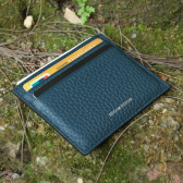 RFID Blocking Top Grain Leather Card Holder
