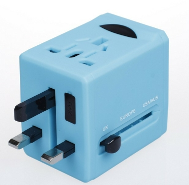 Universal Electric Plug with 2 USB Hub