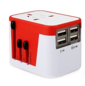 Universal Electric Adaptor with USB Charging Port