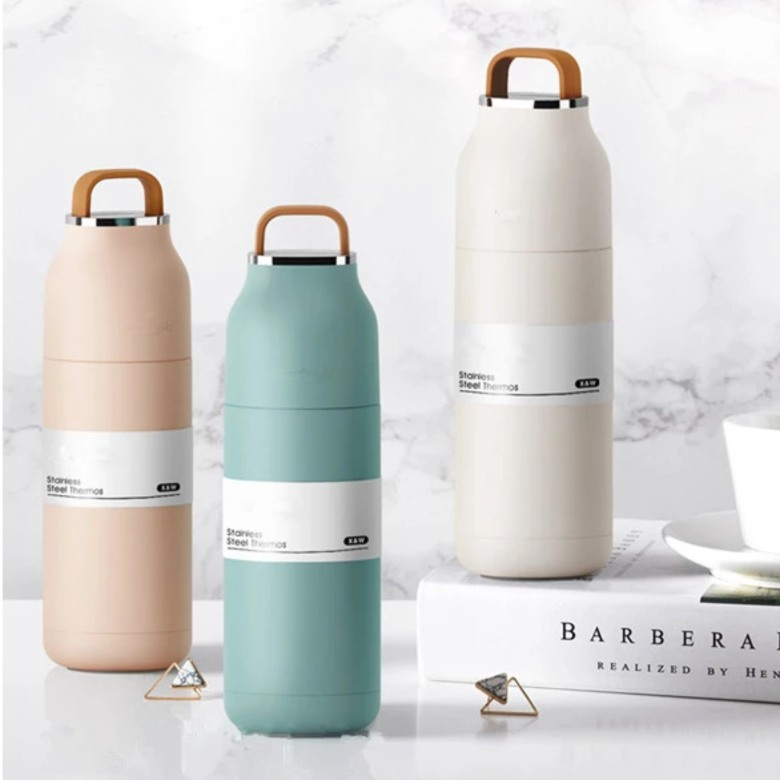Stainless Steel Vacuum Flask with Handle [350ml]