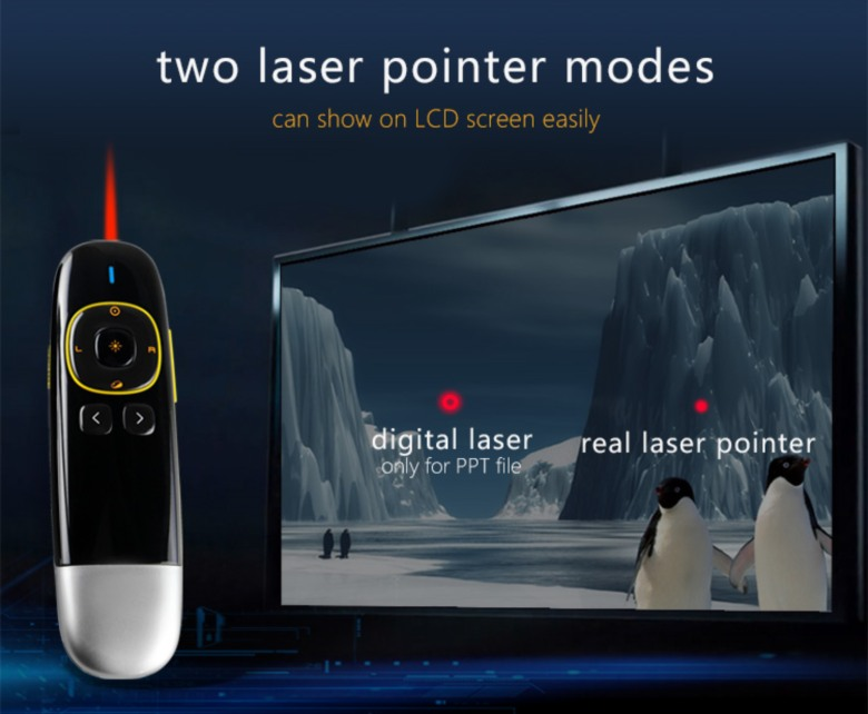 Laser Pointer for Computer Screen with Presenter