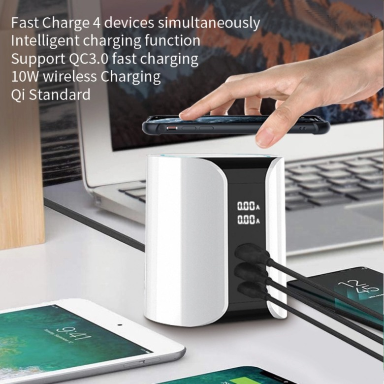 Qualcomm 3  Rapid Wireless Charger with USB Hub