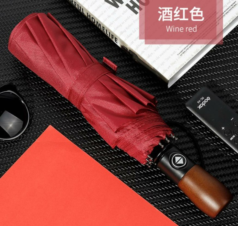 Exclusive Wooden Handle Umbrella 23 In (Auto Open, Close) [HZD-E