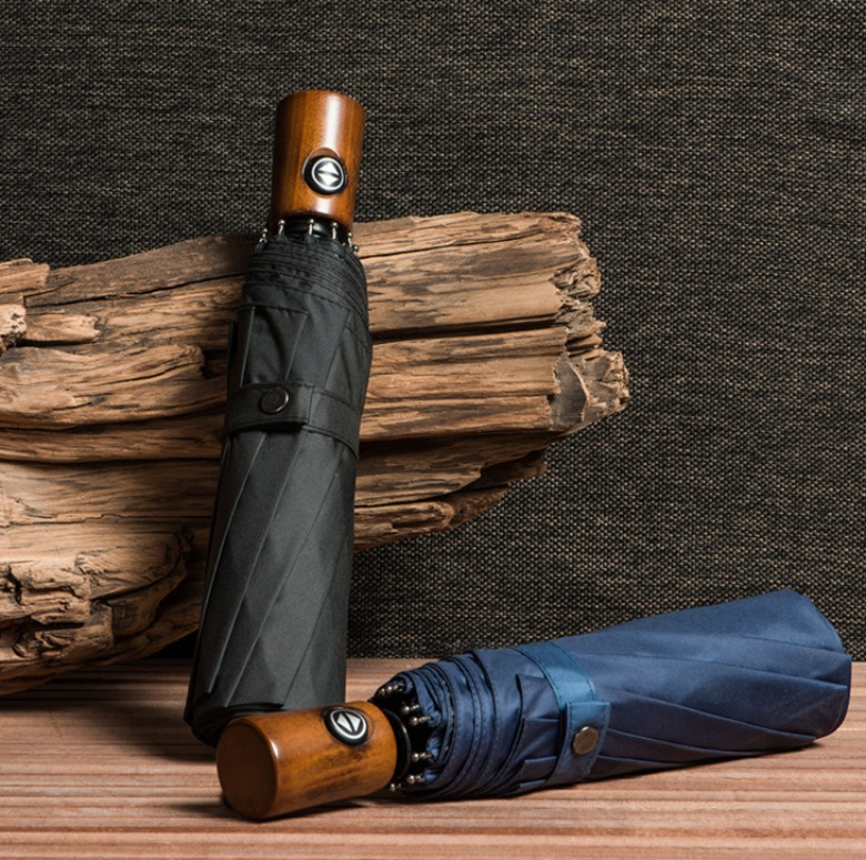 Exclusive Wooden Handle Umbrella 23 In (Auto Open, Close)
