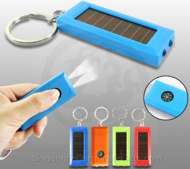 Keychain with torch light using solar energy