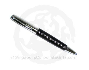 Metal ballpen with Leather