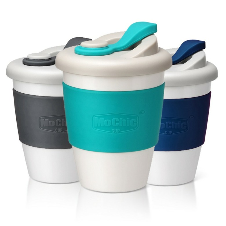 Spill Proof Eco Friendly PLA Plastic Coffee [12 oz/340ml]