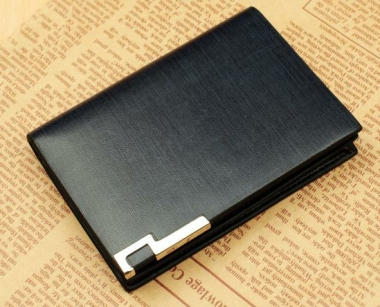 Genuine Leather Namecard Holder (Dark Blue) 333