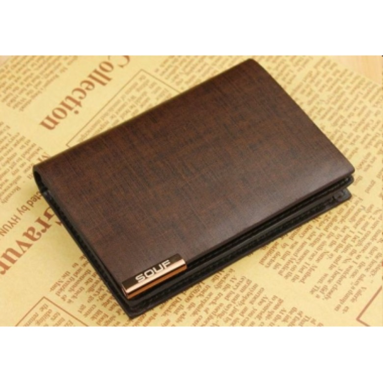 Genuine Leather Namecard Holder (Brown) 333