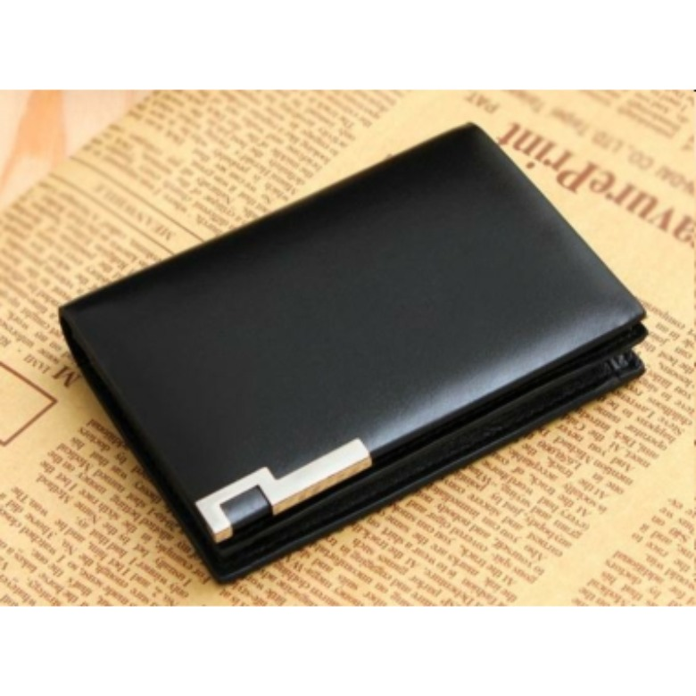 Genuine Leather Namecard Holder (Black) 333