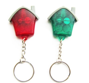 Mini Led House Shape Key Chain