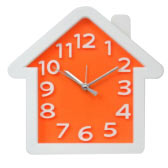 Home Shaped Clock