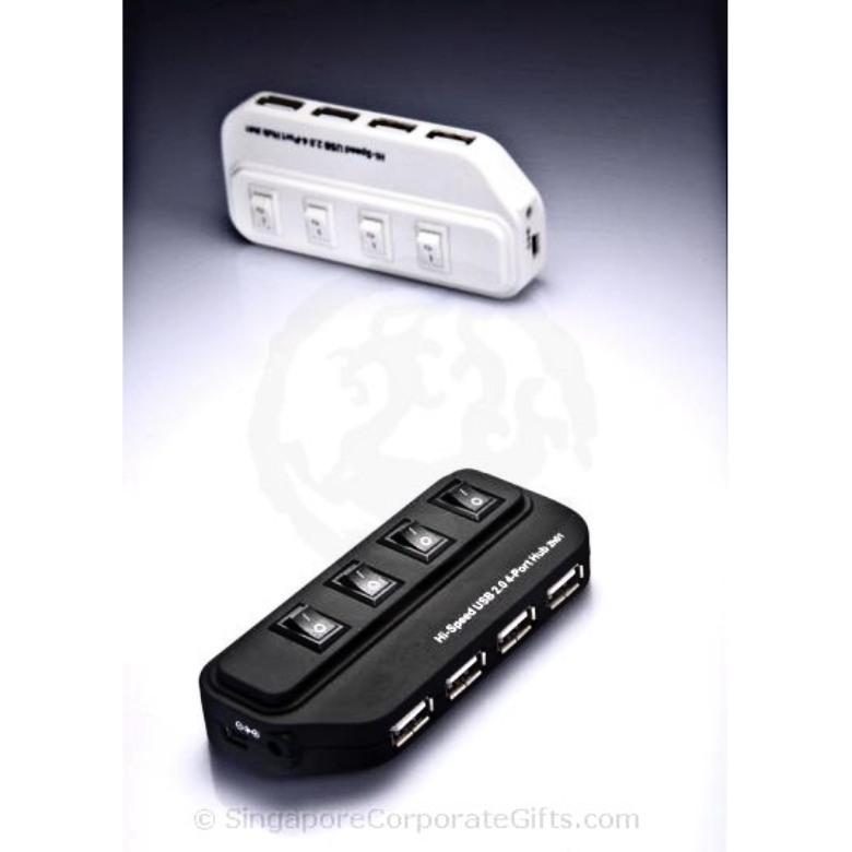 USB Hub with Independent Power Switches (2.0) HUB 182