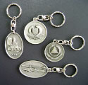 Customised Pewter Keychain