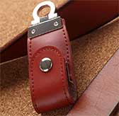Key Thumbdrive with Leather Casing [8GB]