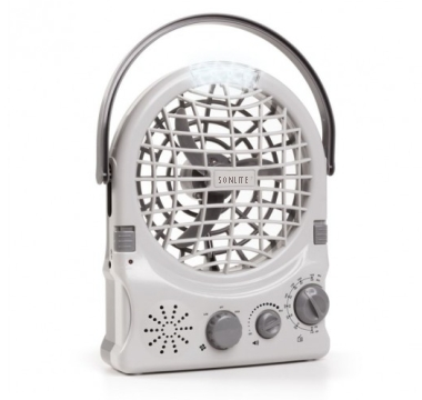 Rechargeable Fan With Radio amd Light