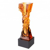 LiuLi crystal Trophy -Dragon - JB1067
