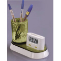Pen Holder with Clock and Namecard Holder
